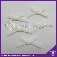 Wholesale Nylon decorative White Velvet Ribbon Bow