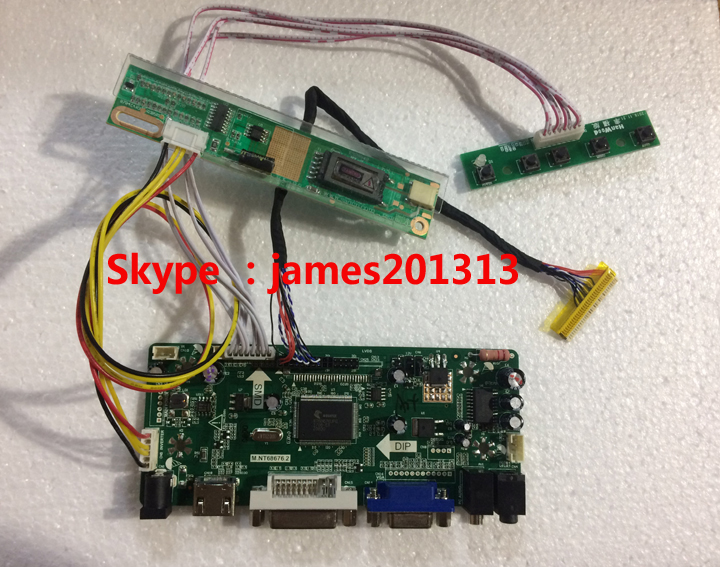 High Quality HDMI VGA DVI Audio LCD Controller Board M.NT68676 For <strong>N156B3</strong>-L0B LP156WH1-TLA3 1366*768 LVDS Lcd Panel 100% Test