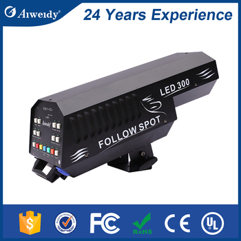 concert stage theater step lighting auto 300w led follow spot Light