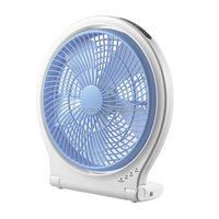 "Electric plastic AC DC 10"" rechargeable table fan desk fan"