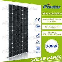 Top quality 300w pv panel mono silicon for on grid off grid solar system