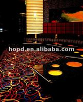 80%Wool 20%Nylon Bright and colorful casino carpet with jute backing