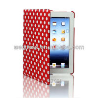 360 Rotating Smart Polka Dot Leather Case Cover For iPad 3/4