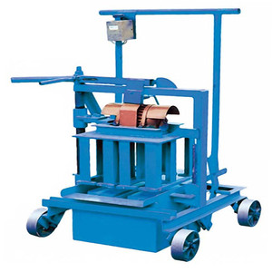 ZCJKQM40A concrete block making large mobile big, home use manual cement brick making machine