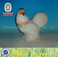 2014 white hot sale ceramic craft chicken