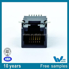 6P6C pitch=1.27 size:18.1X12.96X11.5 Multi rj11 female connector