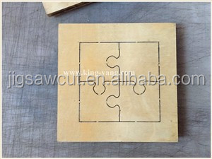 puzzle shape scrapbooking wooden steel rule die cutter size , 15.8mm thick fit sizzix big shot
