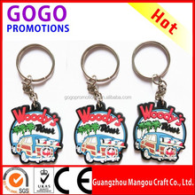 Supply Promotional Gift 3D Soft PVC Keychain Wholesale, OEM manufacturer produce PVC keychain/PVC keyring