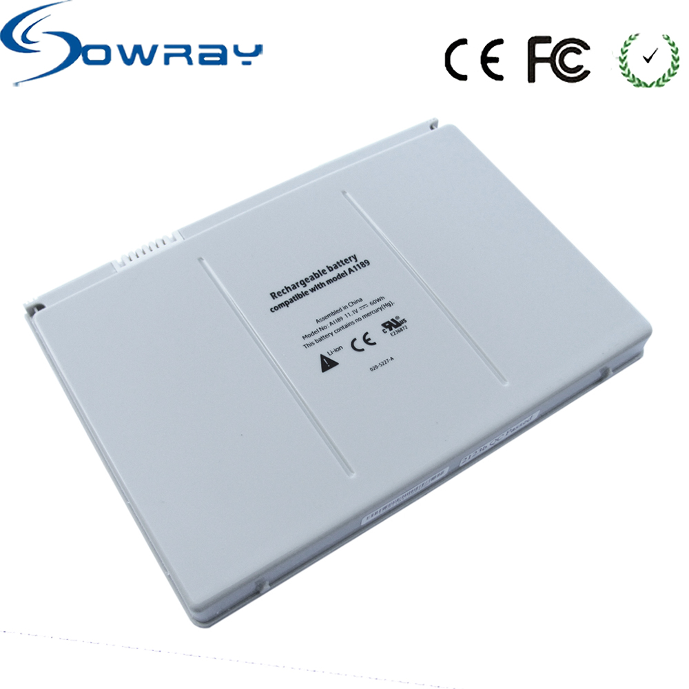 Replacement Li-ion Laptop Battery A1189 A1151 MA092 MA611 MA897J MB166b MA458 Notebook Batteries For Macbook Pro 17