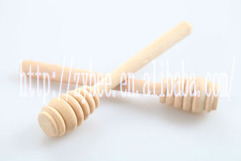 fashion wooden honey stick and spoon