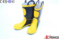 CE standard fire resistant safety boots rubber steel toe shoes rescue wearing protecting foot prevent hurt