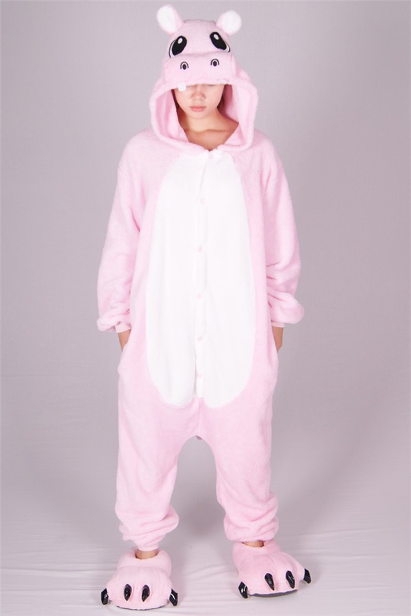 pink hippo apparel sexy mature womens flannel cute winter pajamas
