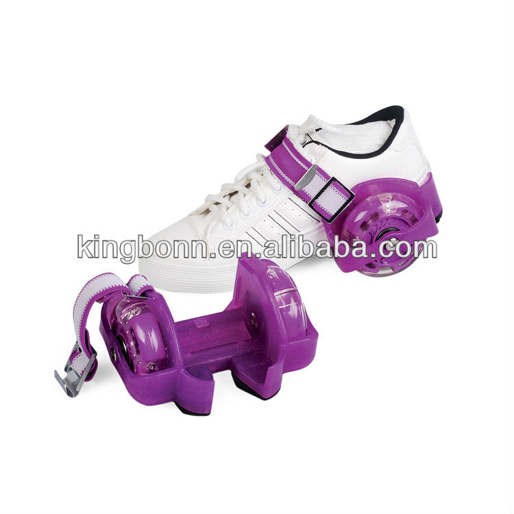 popular flashing roller promotional gifts , baby toy , roller shoes LIGHT UP ROLLER SKATE WHEELS (EN71 & EN13843)