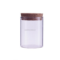 3.3oz glass tube vial with cork for home storaging 100ml