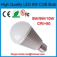 COB A19 LED bulb 8W 60 watts replacement E27 led bulb light energy saving 2700k dimmable E27 8w LED Bulb Assembly.