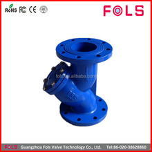 Hydraulic water pipe flange end cast iron strainer