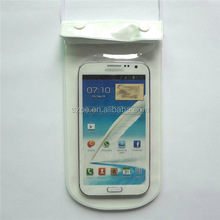 Cheap price Waterproof Pouch Bag for MP3 / Iphone 4s/5 Galaxy S2/ S3 Galaxy Nexus with two buttons (white+Transparent)