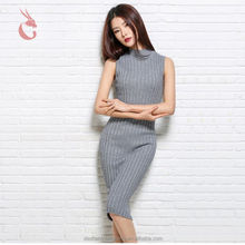 most popular in stock woman fancy long knit sleeveless latest wool sweater design for girl