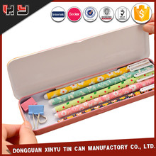 decorate fancy rectangular pencil case tin box