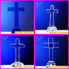 wholesale cheap price crystal cross standing craft for home decoration