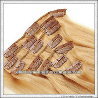 Tangle free and fast shipping clip in hair extension full head set