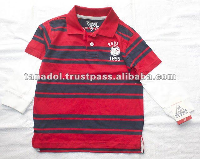 Children's clothing modern polo shirt double long for boys 2012