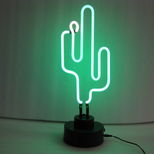 china cactus beautiful glass neon sign manufacturer