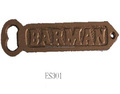 "cast iron ""Barman"" bottle opener"