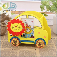 Lovely Car Design Pen Holder for Kids with Animal Clip