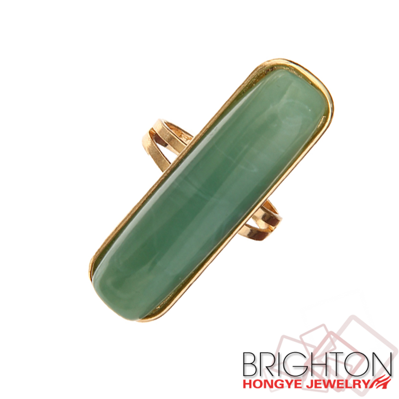 Bar Green Gem Rings JC-4829-6.4