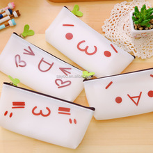 China whosale Promotional Logo printed Custom silicone pencil case