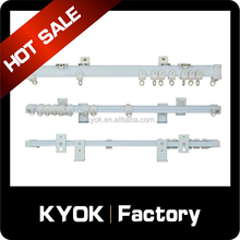 KYOK strong capacity curtain rail wholesale, hot selling Singapore market double curtain track, ceiling mount white rail code