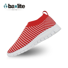 Baolite Spring and summer knit casual children's Sports Shoes slip-on factory price for sneaker girls shoes