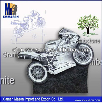 Brand-new granite tombstone design funeral car