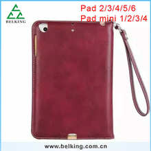 For Ipad Tablet Handbag Case ,Leather Case With Hand Strap For Ipad mini 1/2/3/4