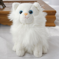 Stuffed Customized Toy Lifelike Cat/Soft Cute Animal Toy White Cat/Stuffed Animated Toy Kitten