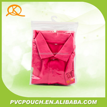 cheapest hot sell pvc t -shirt bag , hook hanger bags , hook bag