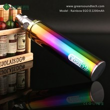 Wholesale e cigarette GS EGO 2 Series High Capacity eGo II Rainbow ego battery stickers