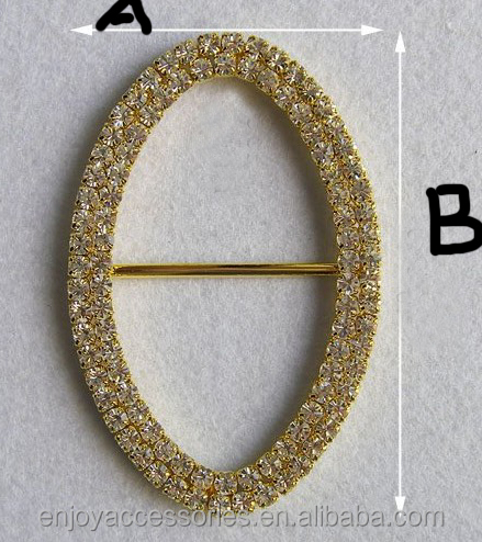 Oval rhinestone <strong>buckles</strong> for dress/Rhinestone <strong>Buckles</strong> Invitation Ribbon Slider For Wedding