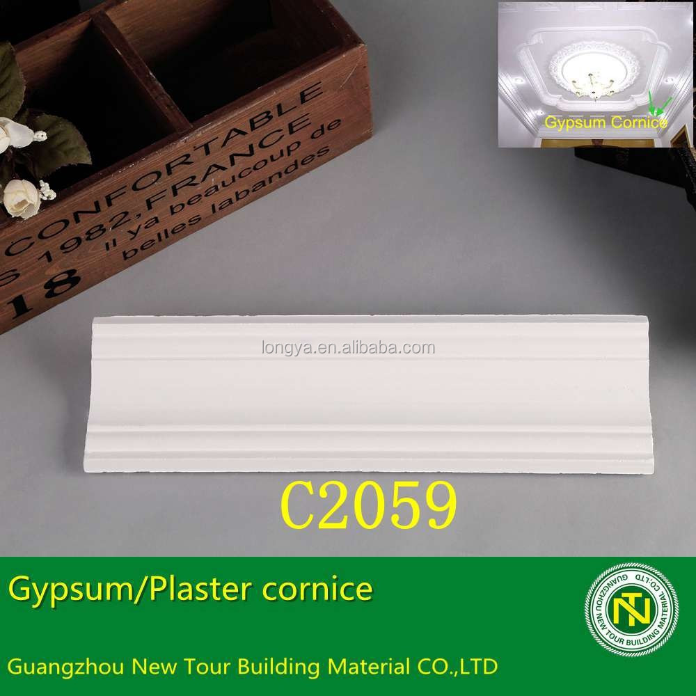 gypsum plaster crown moulding cornice for ceiling
