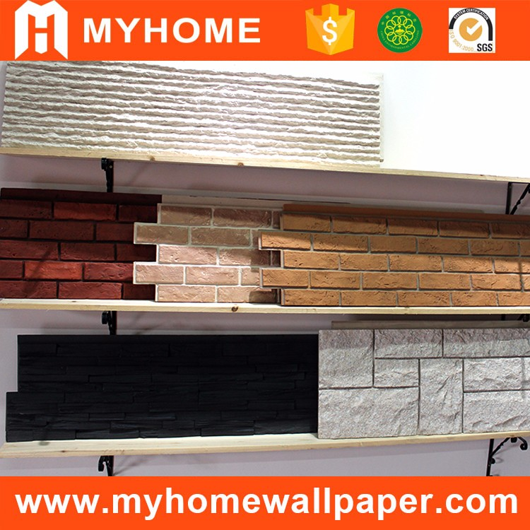 New design artificial stacked stone polyurethane 3d pu faux stone decorative brick wall panel