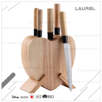 Japanese style wooden handle Stainless steel kitchen knife