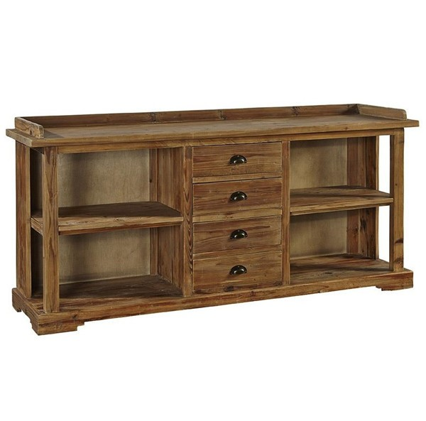 Mrs Woods Antique Reclaimed Wood Tv Cabinet