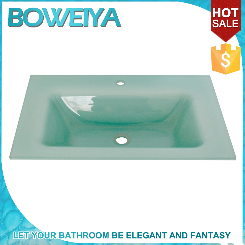 Buy Intelligent Light Green Color Glass Undermount Vanity Sink, Wash Basin Price in Bangladesh