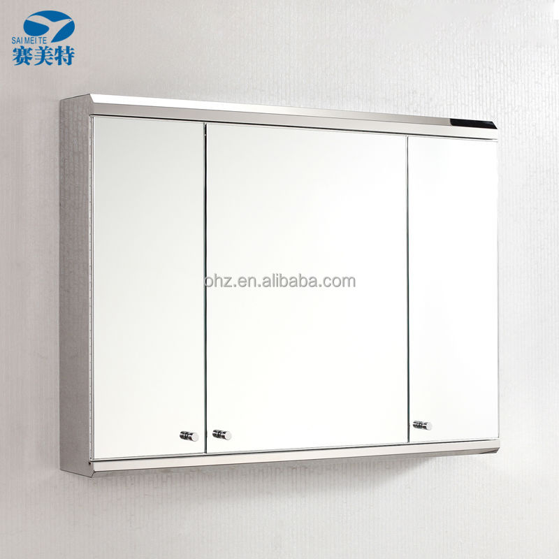 Triplo abrir as portas do armário espelho do banheiro louças sanitárias 7039L -> Armario De Banheiro Com Espelho Triplo