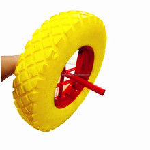 Stronger Solid Rubber pu foam Tyre Wheel for wheelbarrow