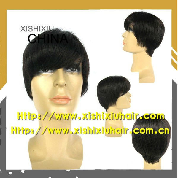 Hot Sale! 100% Human Hair Wigs For Man