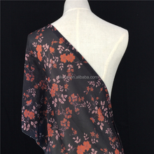 Serviceable Polyester Pearl Floral Printed Fabric Chiffon For Dubai Digital Printing On Tshirt