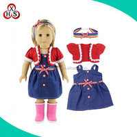 american girl doll clothes 18inch american girl doll dress factory OEM wholesale