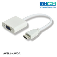 hdmi cable to vga converter White HDMI to VGA Cable AM to VGA 15CM